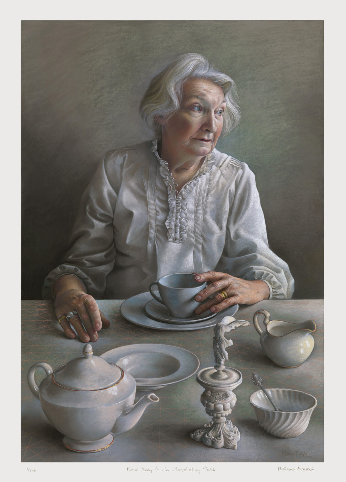 Pastel-Study-for-An-Angel-at-my-Table-signed-limited-edition-print-Miriam-Escofet